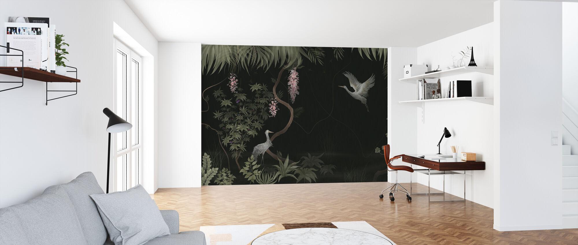 Tranquil Scenery - Dark Sage - Wallpaper - Office