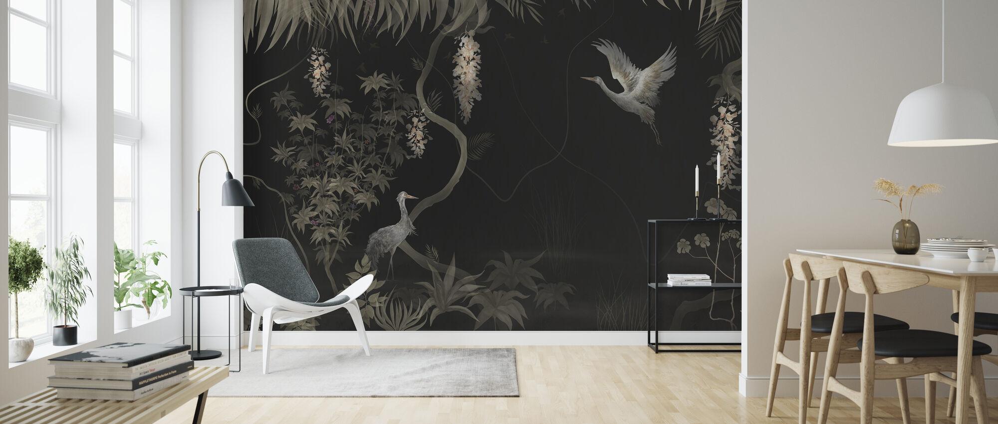 Tranquil Scenery - Dark Sepia - Wallpaper - Living Room