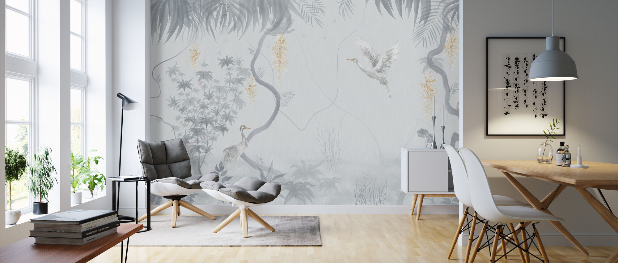Tranquil Scenery - Ash Blue - Wallpaper - Living Room