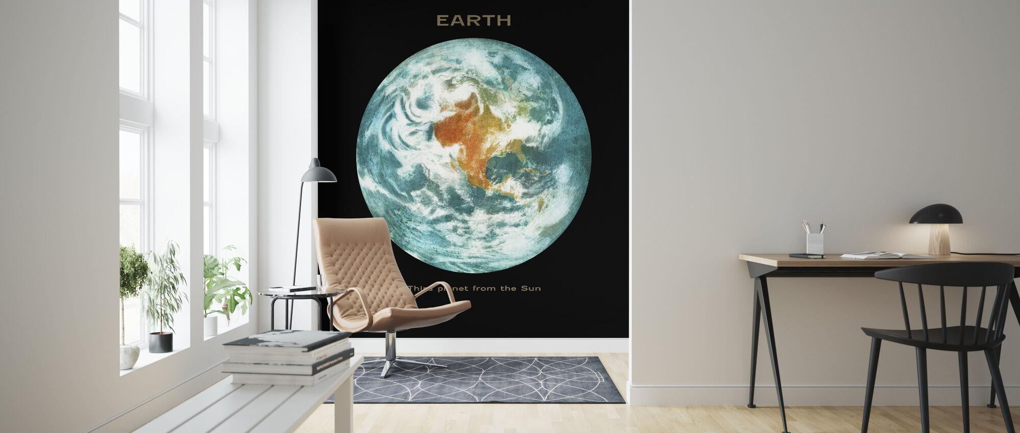 Solar System - Earth - Wallpaper - Living Room
