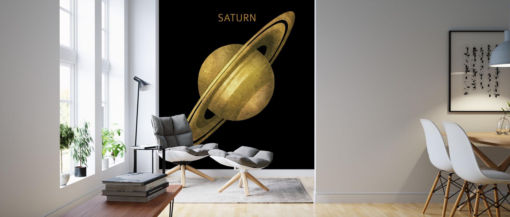 Solar System - Saturn - Wallpaper - Living Room