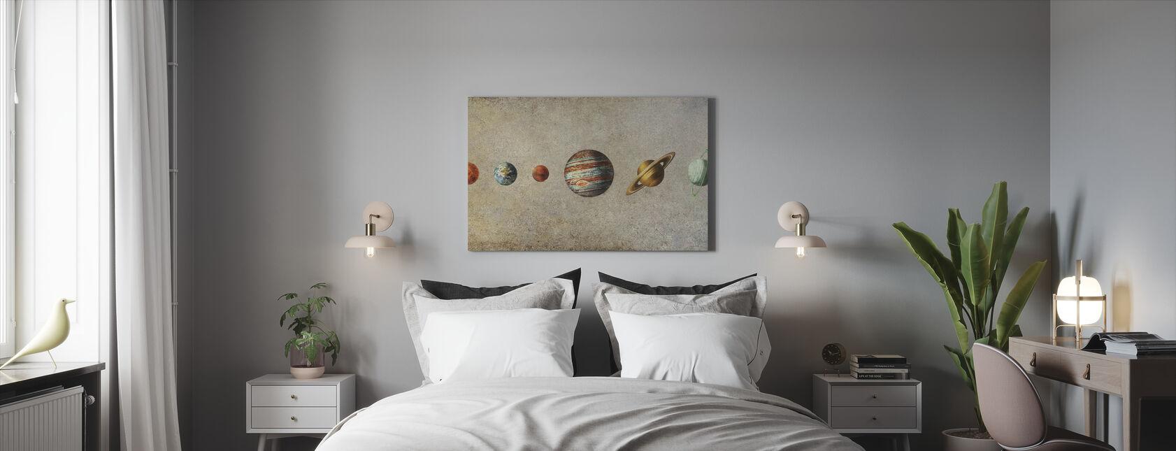 Solar System - Sepia - Canvas print - Bedroom