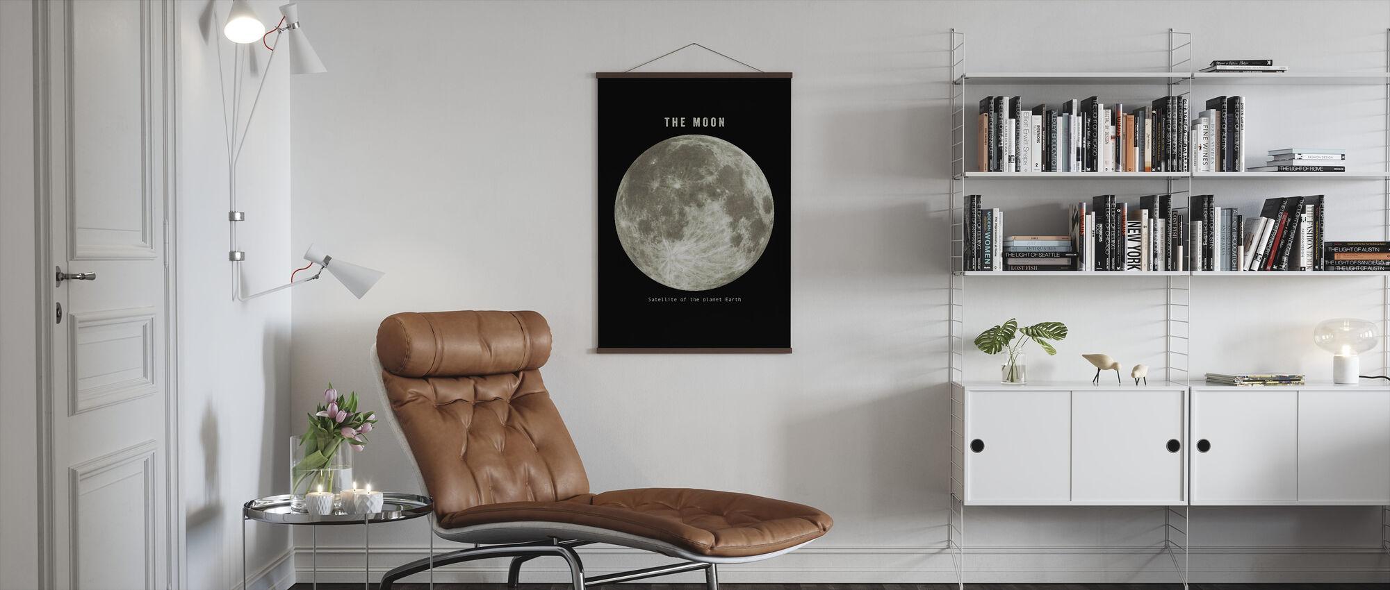 Solar System - Moon - Poster - Living Room