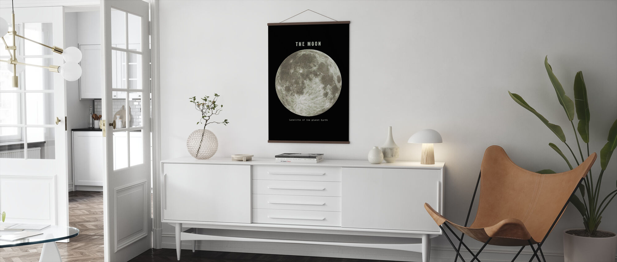 Solar System - Moon Mono - Poster - Living Room