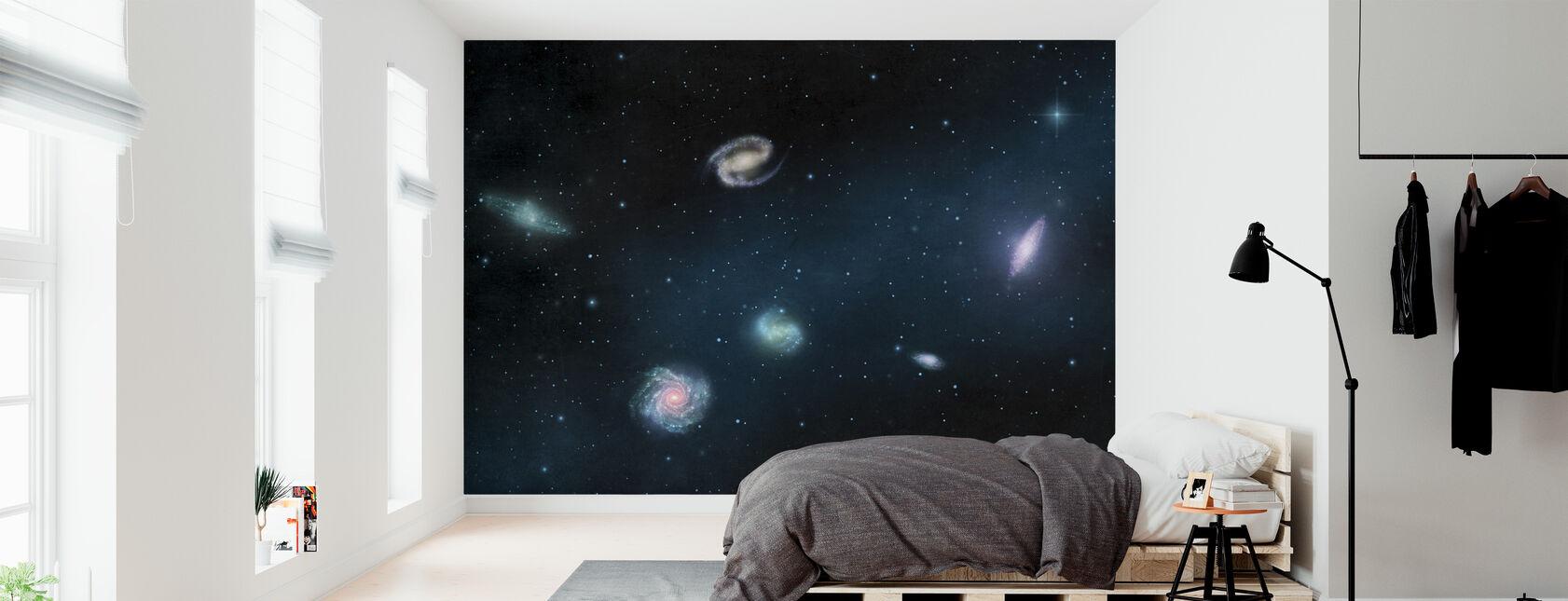 Mørkeste mørke - Galakser - Tapet - Soverom