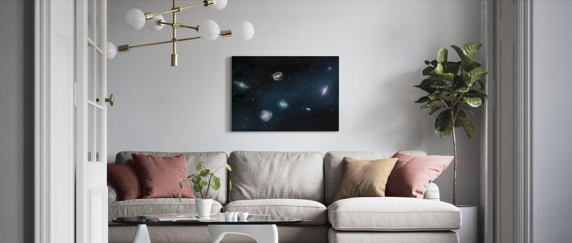 Darkest Dark - Galaxies - Canvas print - Living Room