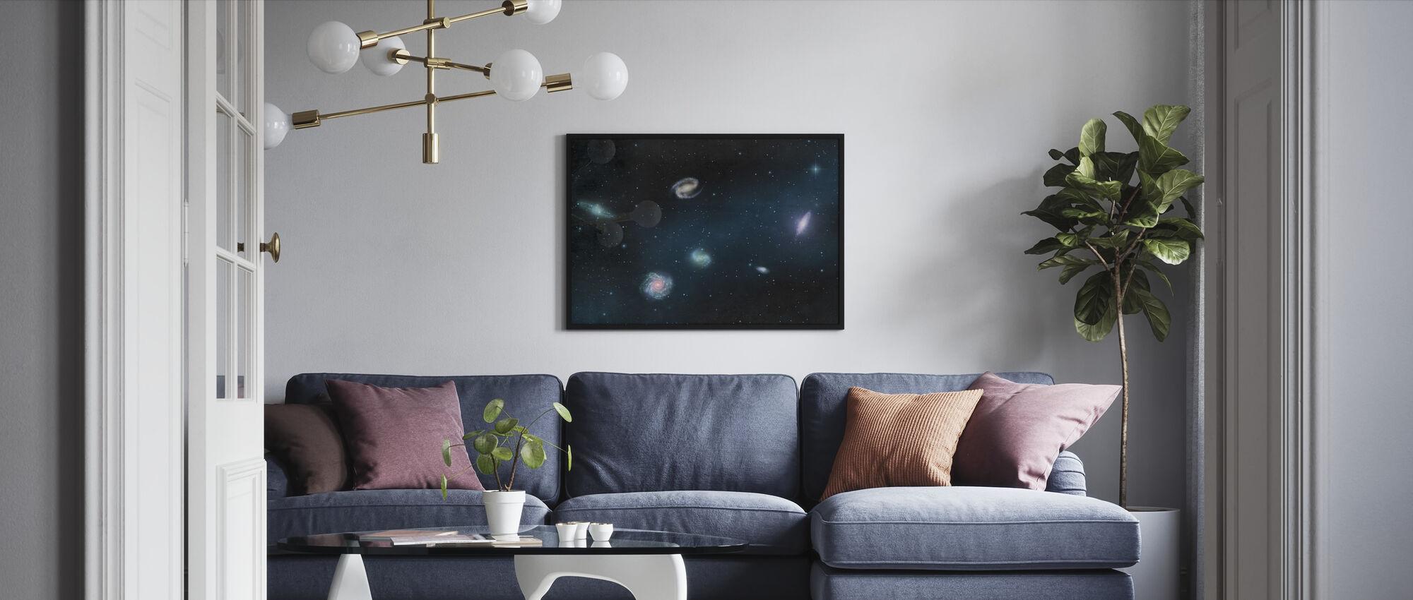 Darkest Dark - Galaxies - Framed print - Living Room