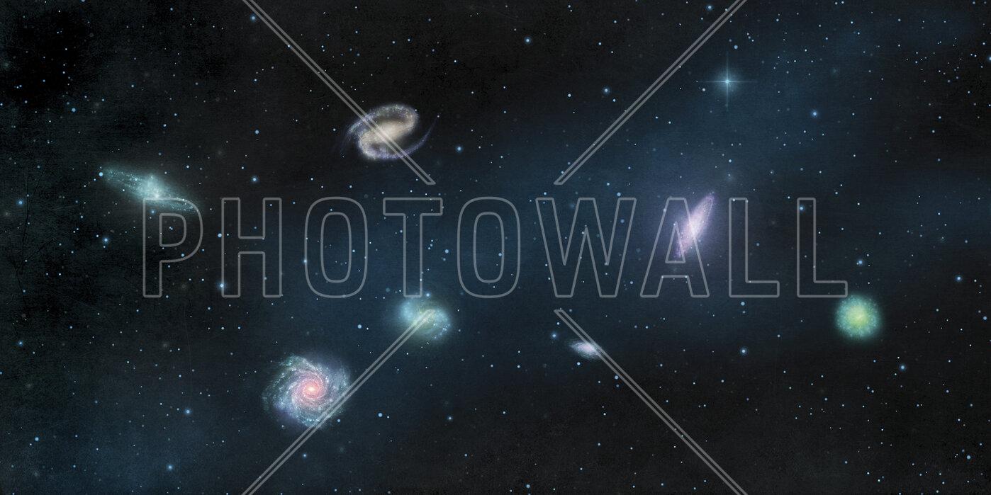 Darkest Dark Galaxies Trendy Wall Mural Photowall