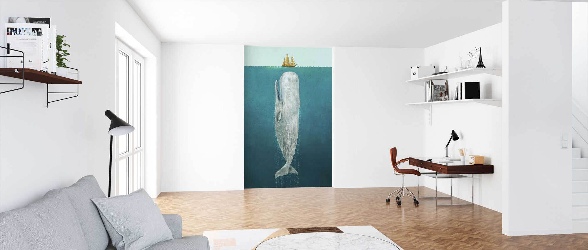 Whale - Wallpaper - Office