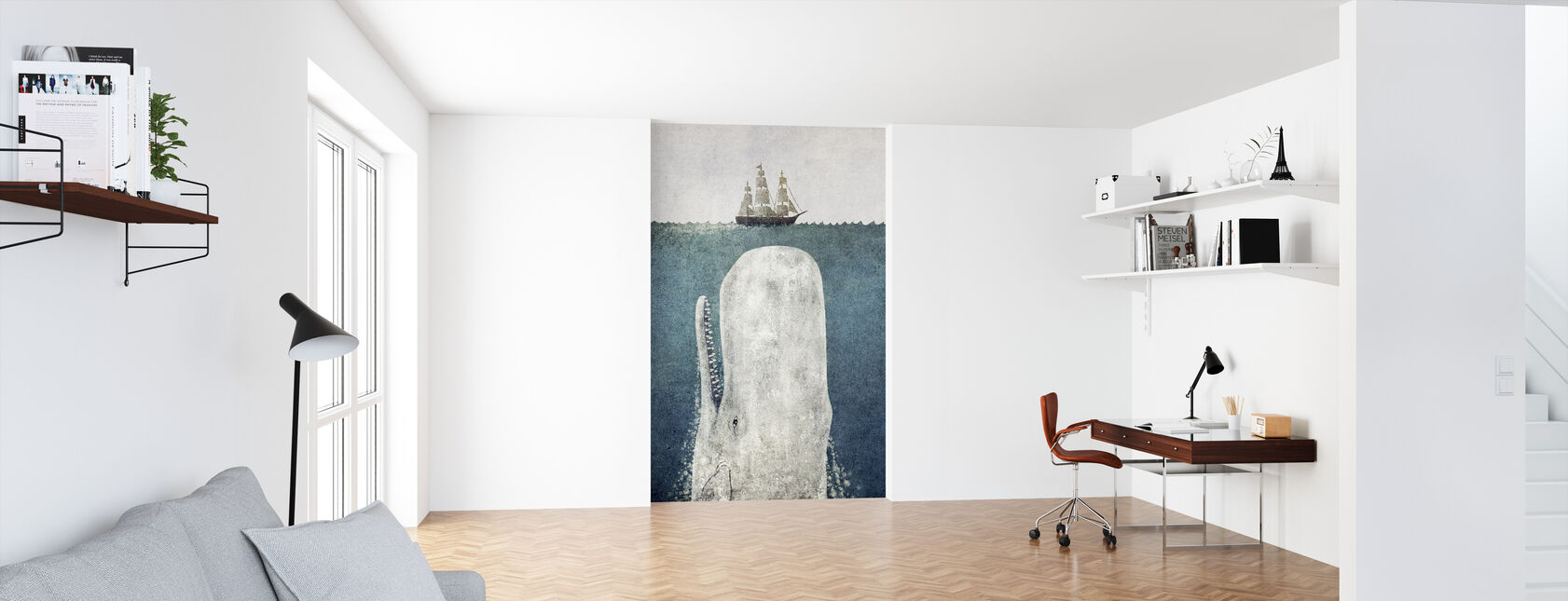 Whale Vintage - Wallpaper - Office