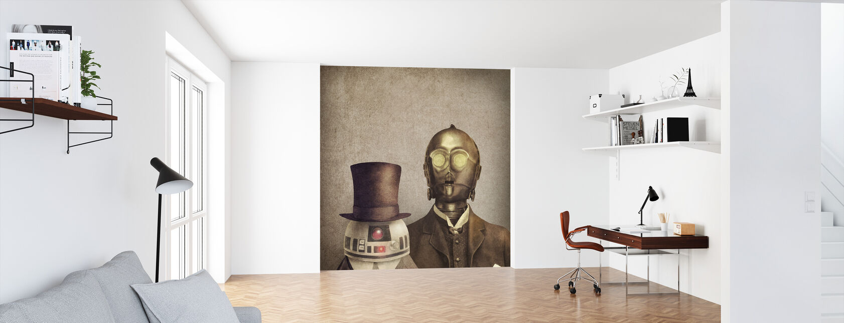 Victorian Robots - Wallpaper - Office