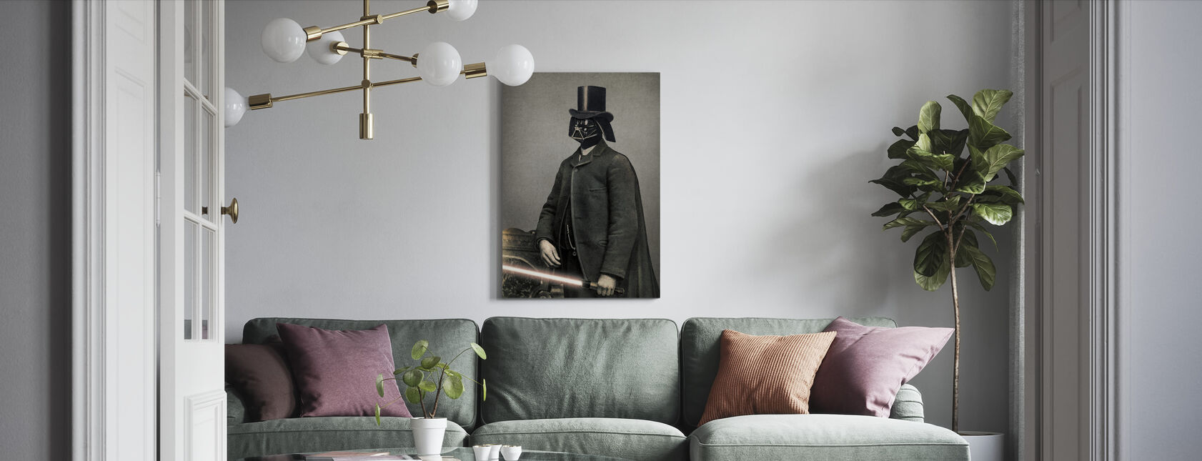 Victorian Wars Lord Vadersworth - Canvas print - Living Room