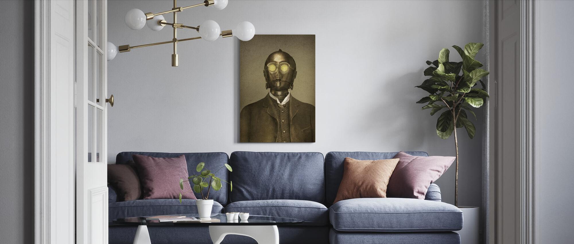 Victorian Wars Baron Von 3PO - Canvas print - Living Room