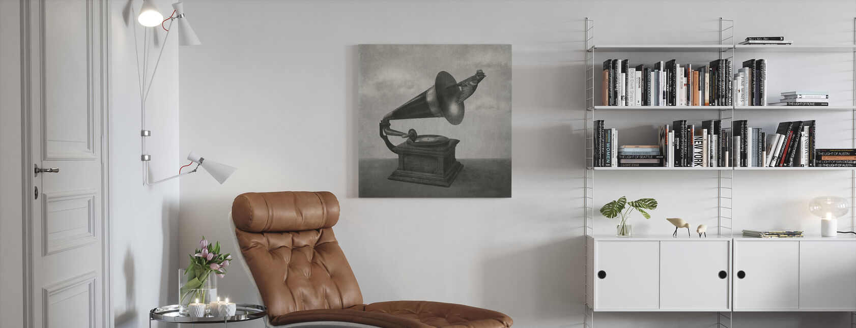 Vintage Songbird Mono - Canvas print - Living Room