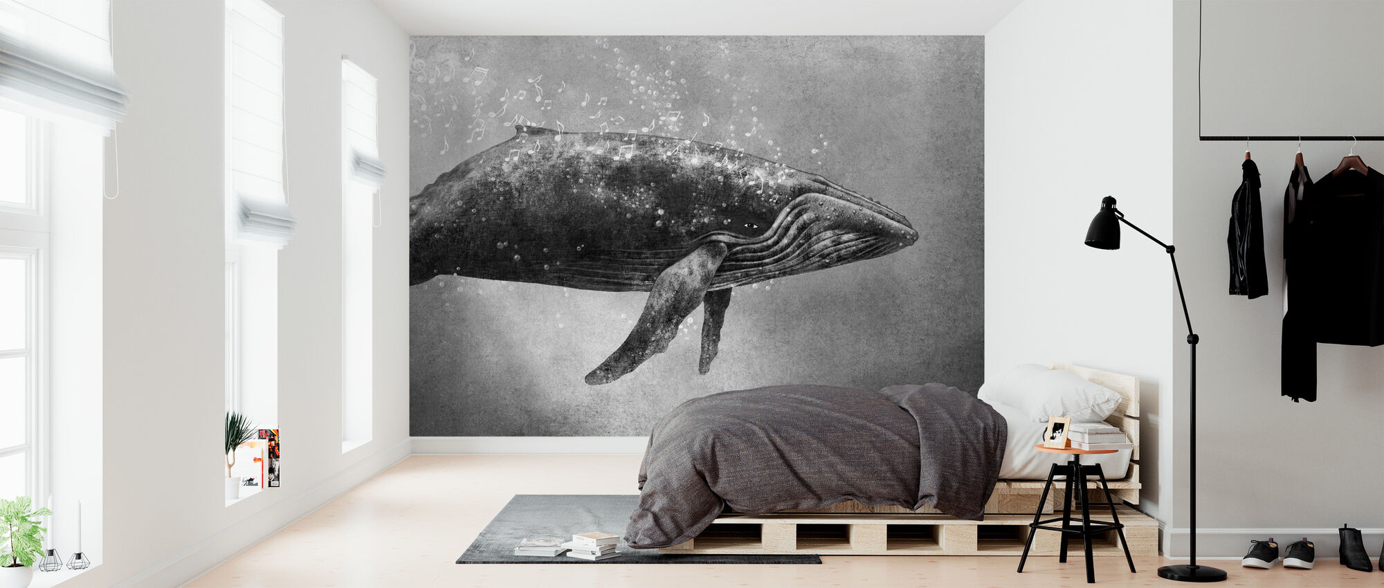 Whale Song - Wallpaper - Bedroom