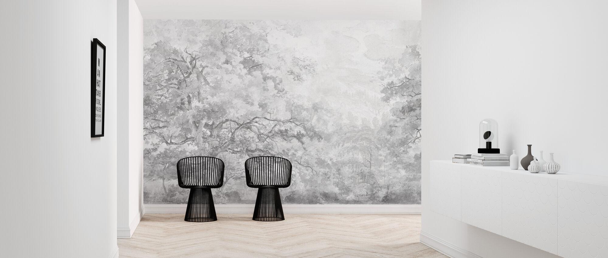 Beauty Everywhere - Grey - Wallpaper - Hallway