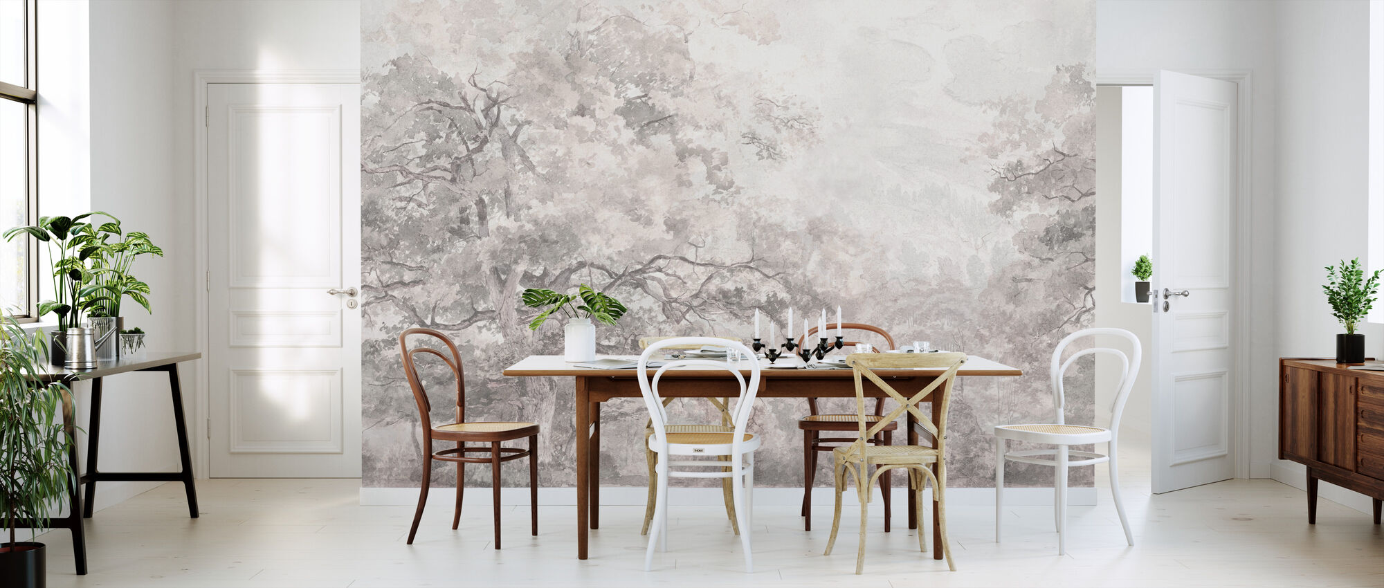 Beauty Everywhere - Pink - Wallpaper - Kitchen