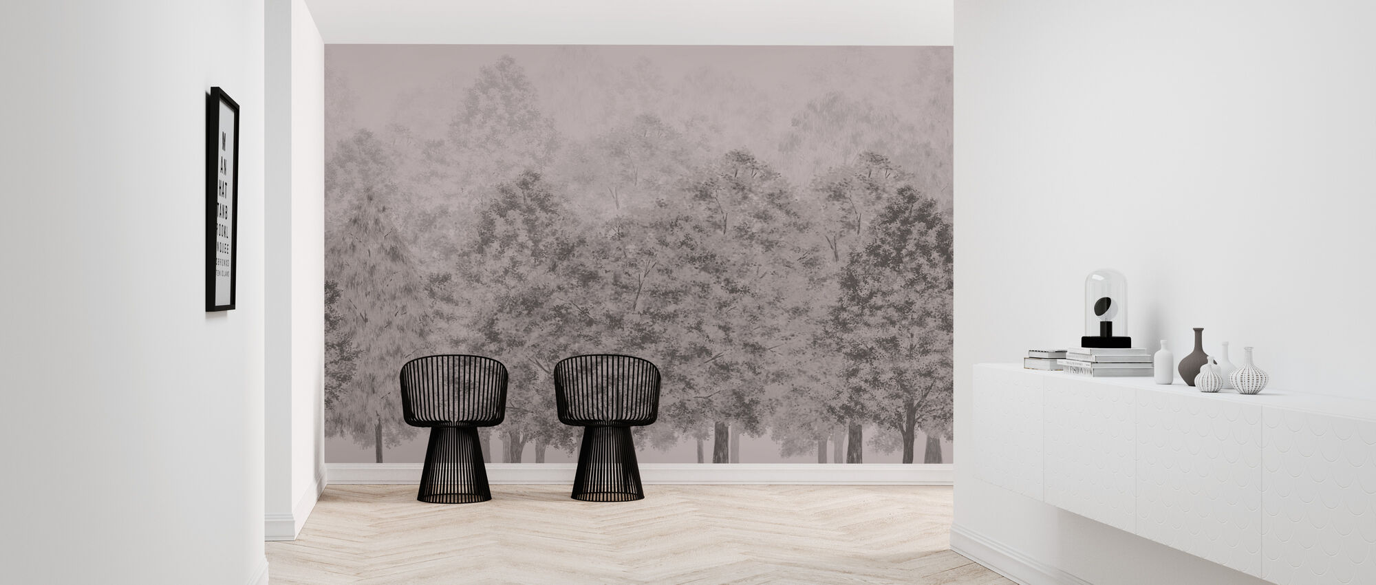 Dusk and Dawn - Pink - Wallpaper - Hallway