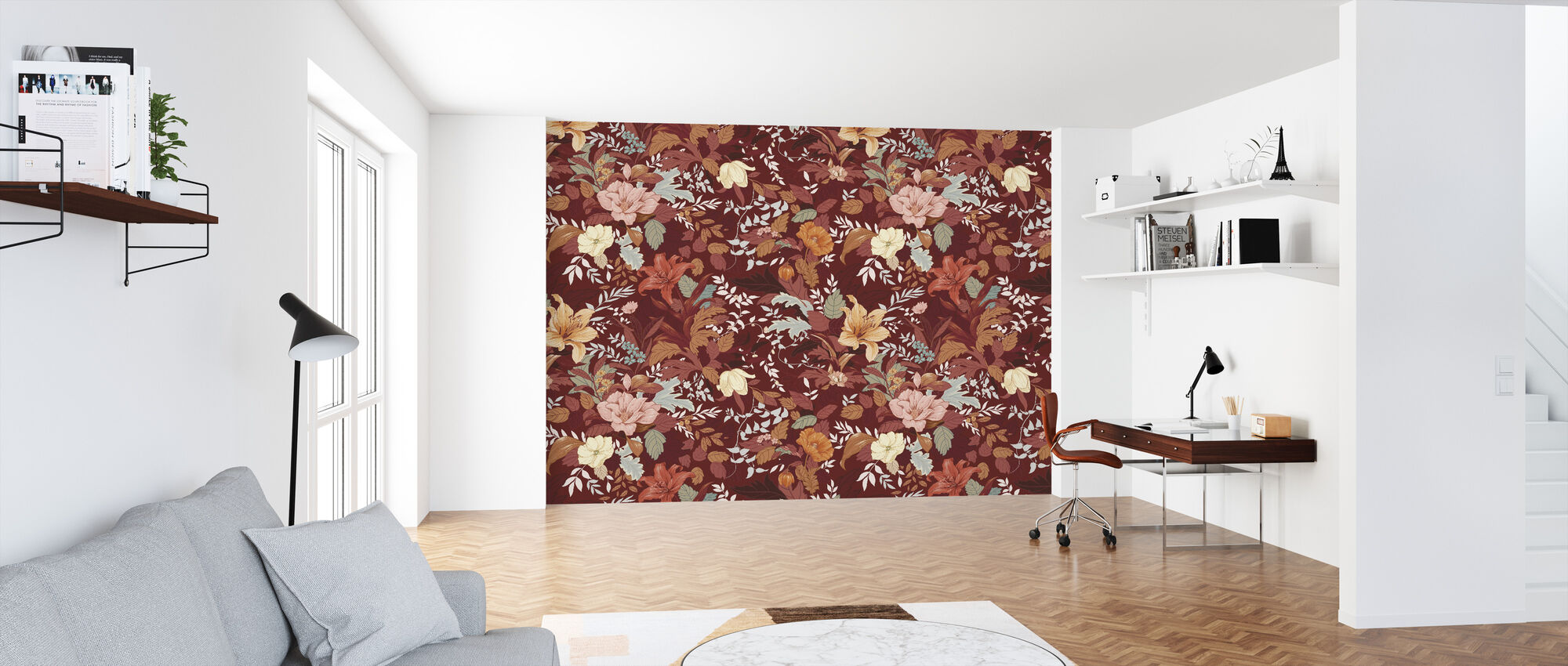 Allure - Jagger Orange - Wallpaper - Office