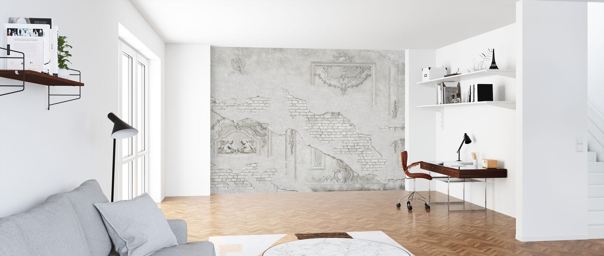 Sprukket gips Ornament murstein vegg - Tapet - Kontor