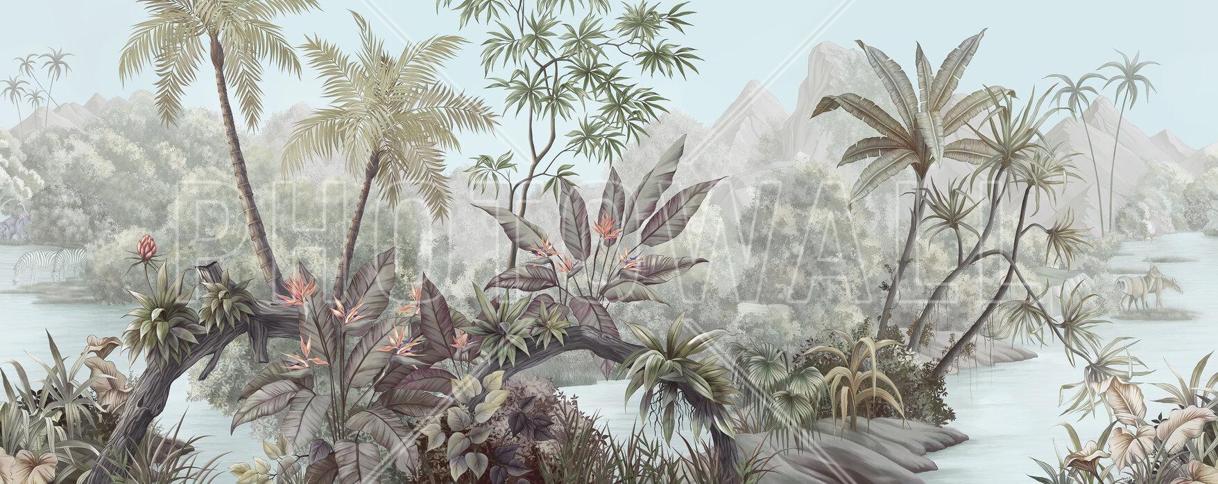 Tangled Jungle Trendy Wall Mural Photowall