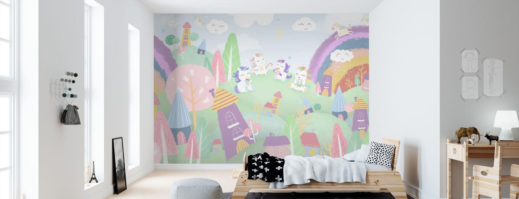 Pueblo de Unicornio - Papel pintado - Cuarto de niños