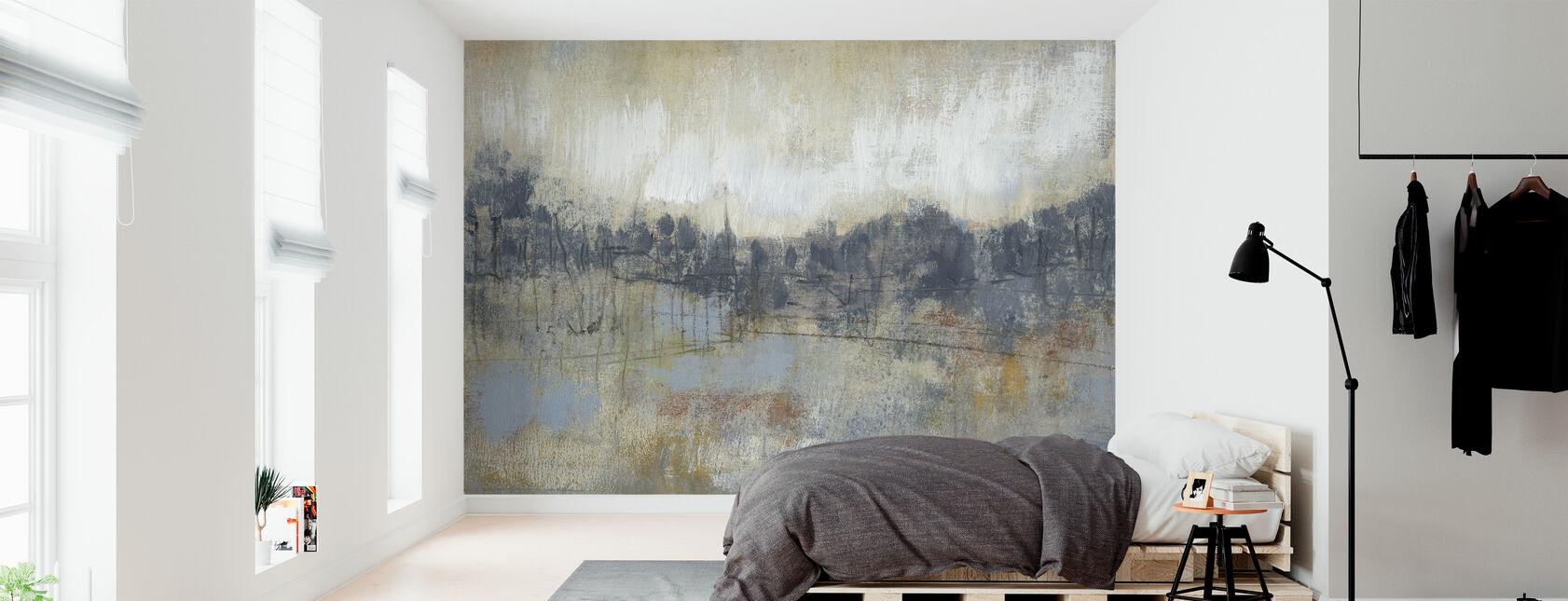 Coole grijze Horizon - Behang - Slaapkamer