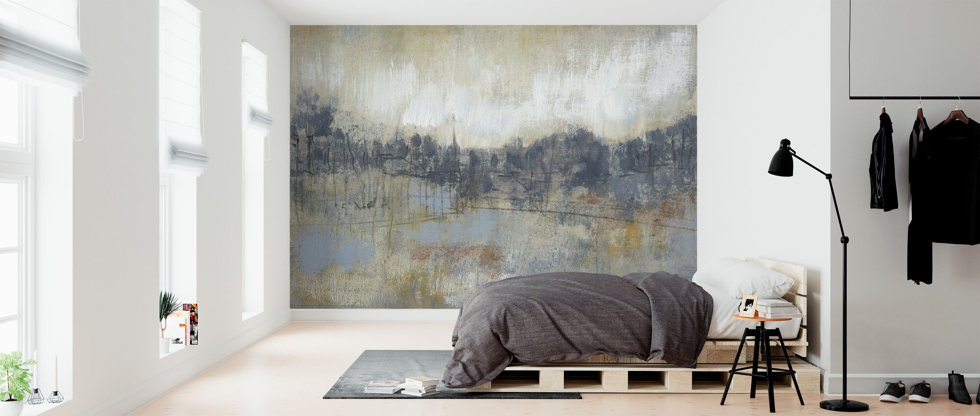 Cool Grey Horizon - Wallpaper - Bedroom