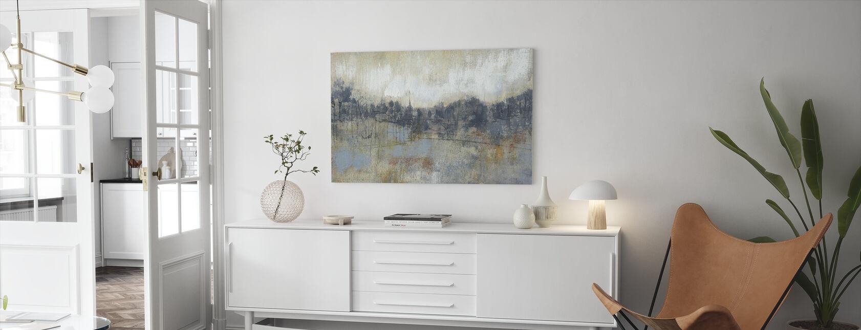 Kul grå horisont - Lerretsbilde - Stue