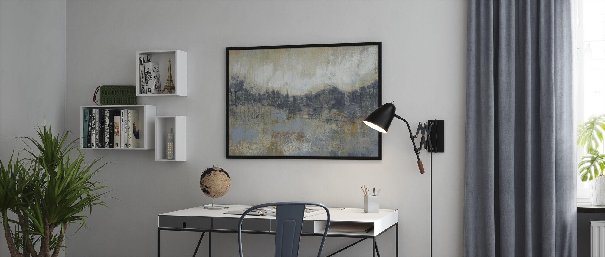 Viileä harmaa horisontti - Kehystetty kuva - Toimisto