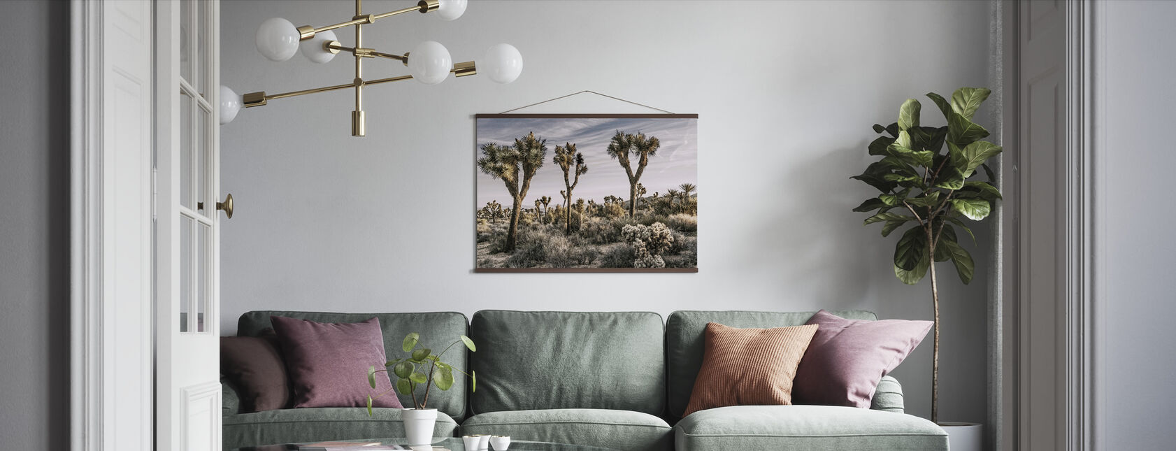 Views of Joshua Tree - Poster - Living Room