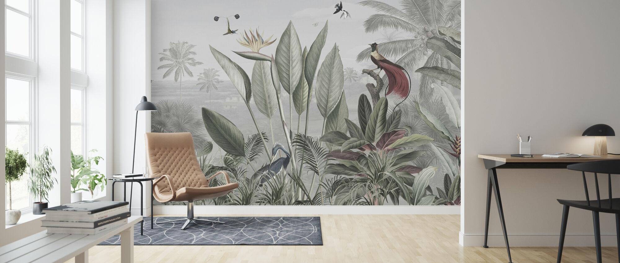 Botanical Beauty - Panorama - Wallpaper - Living Room