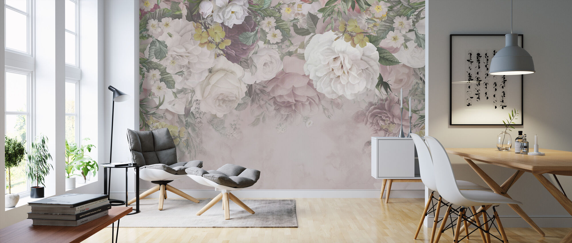 Gentle Flowers - Wallpaper - Living Room