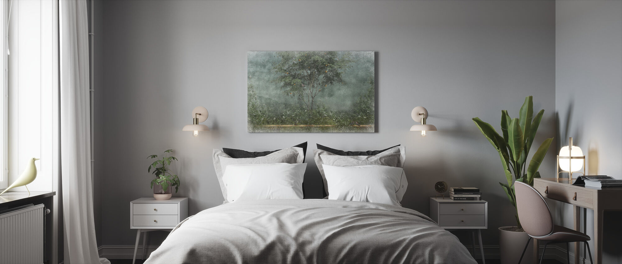 Old Frayed Painted Wall II - Canvas print - Bedroom