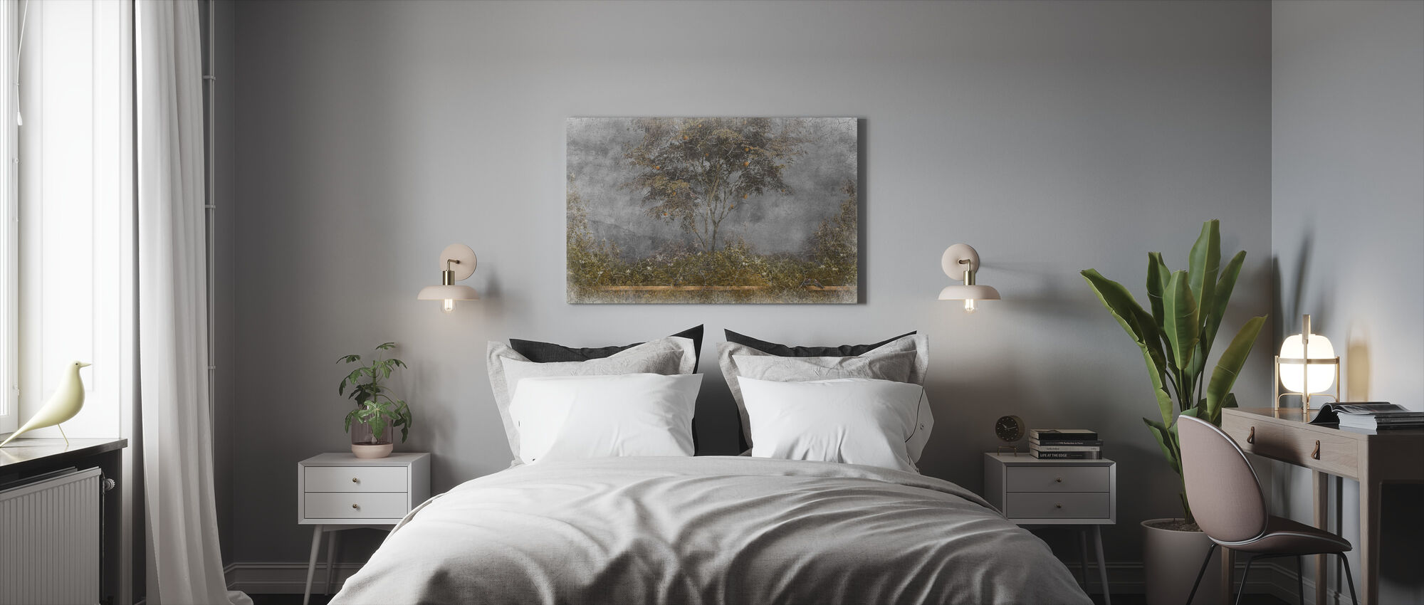 Old Frayed Painted Wall III - Canvas print - Bedroom