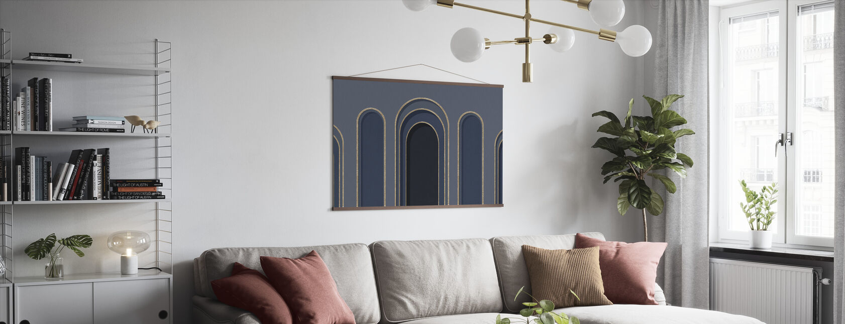 Arch Adornment - Blue - Poster - Living Room
