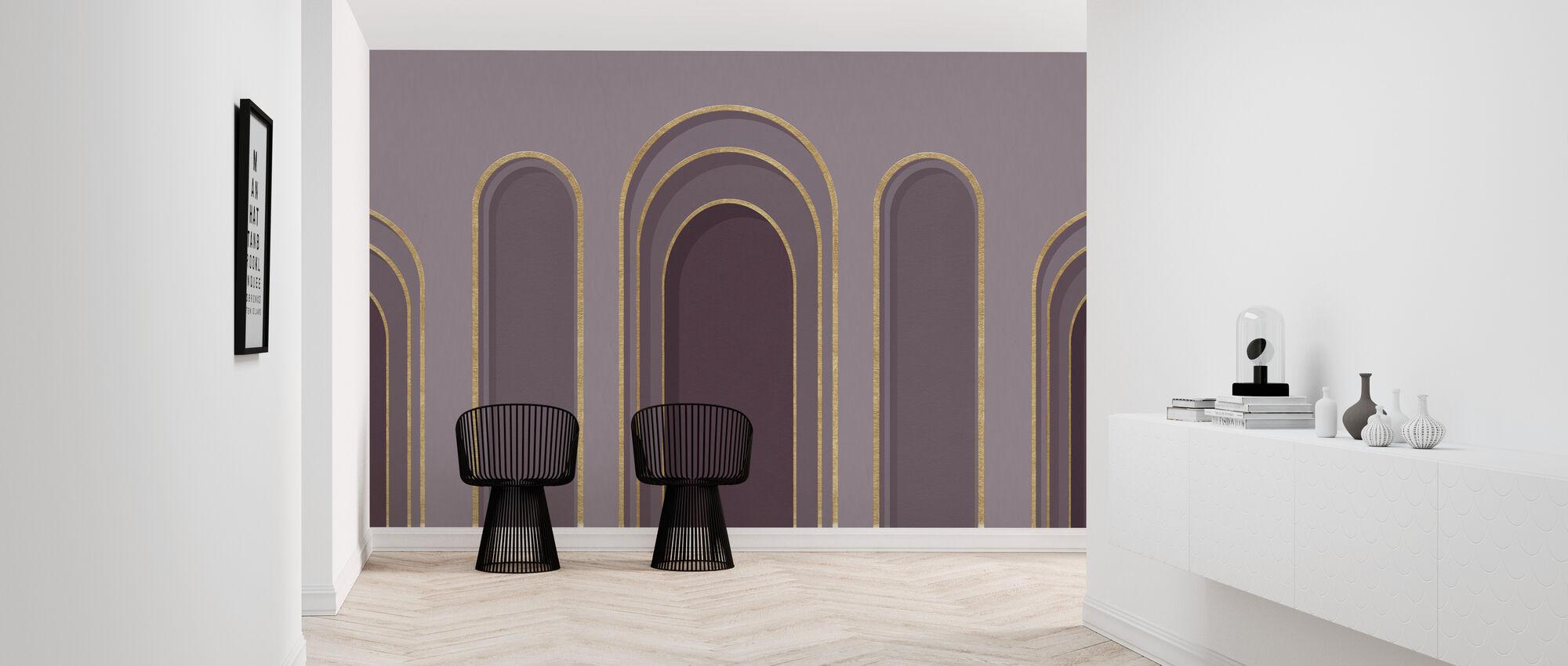 Arch Adornment - Violet - Wallpaper - Hallway