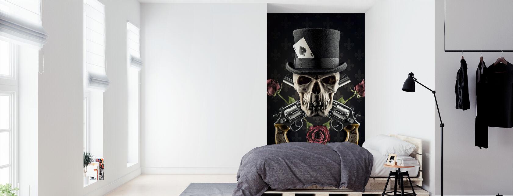 Revolver and Skull - Wallpaper - Bedroom
