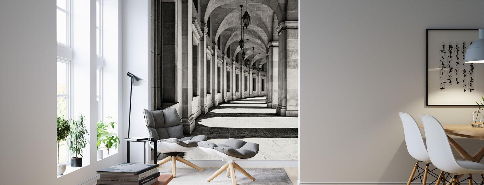 Böjda korridor - Tapet - Vardagsrum