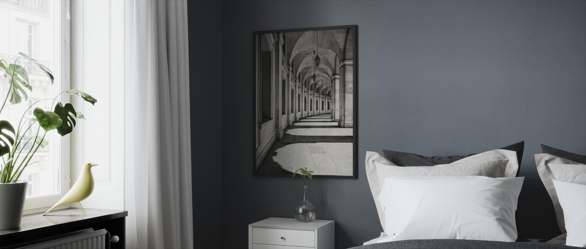 Curved Corridor - Framed print - Bedroom