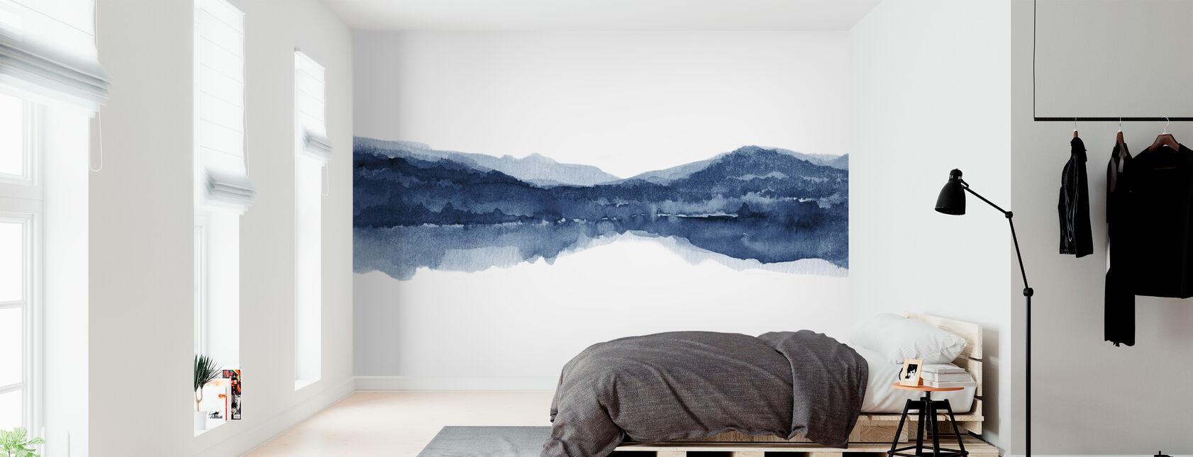 Aquarelle Paysage II - Bleu Marine - Papier peint - Chambre