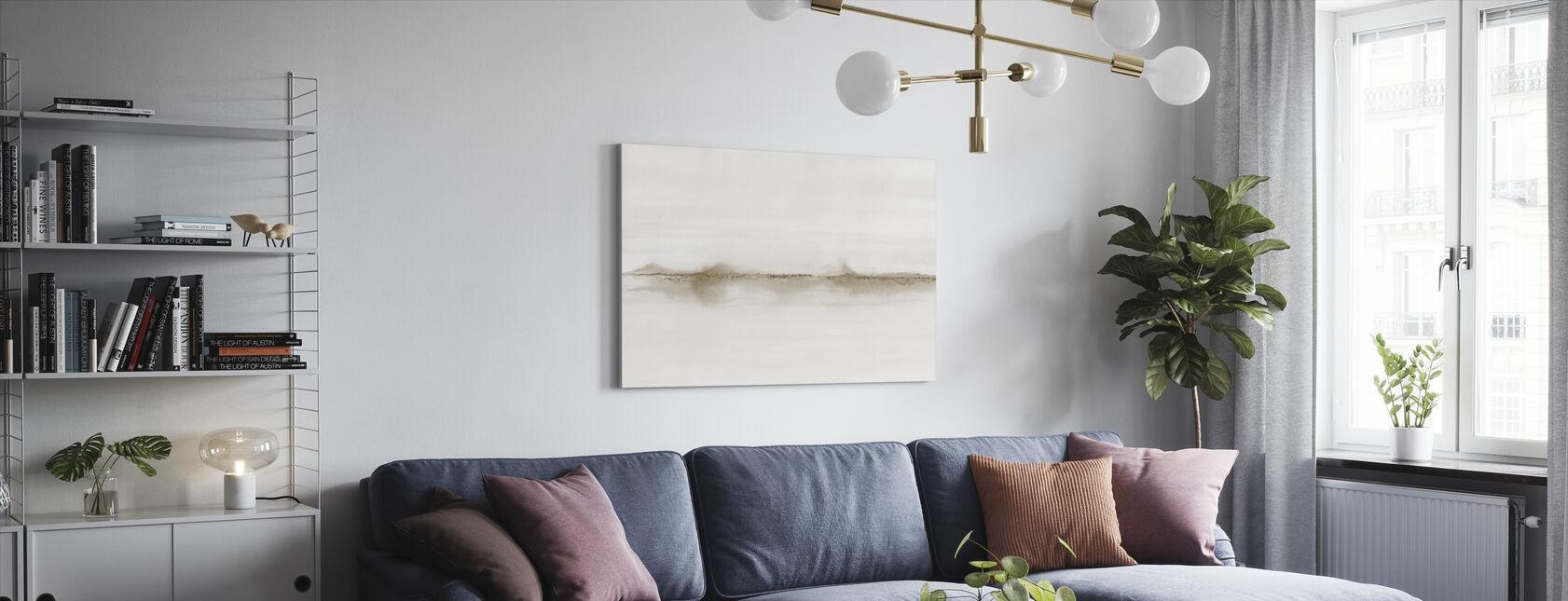 Akvarellimaisema V - Sepia - Canvastaulu - Olohuone