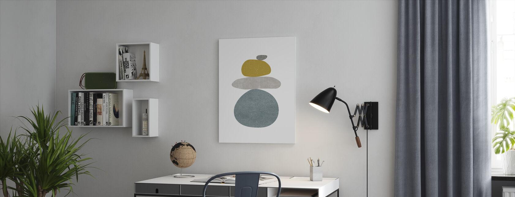 Pebbles V - Canvas print - Office