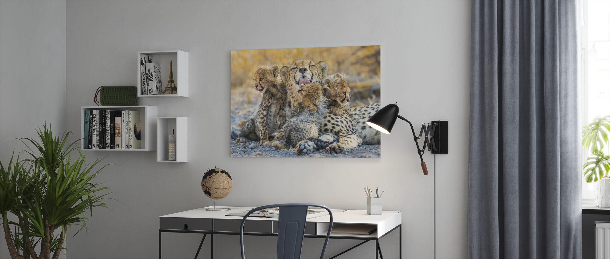 Schoonmaaktijd - Canvas print - Kantoor