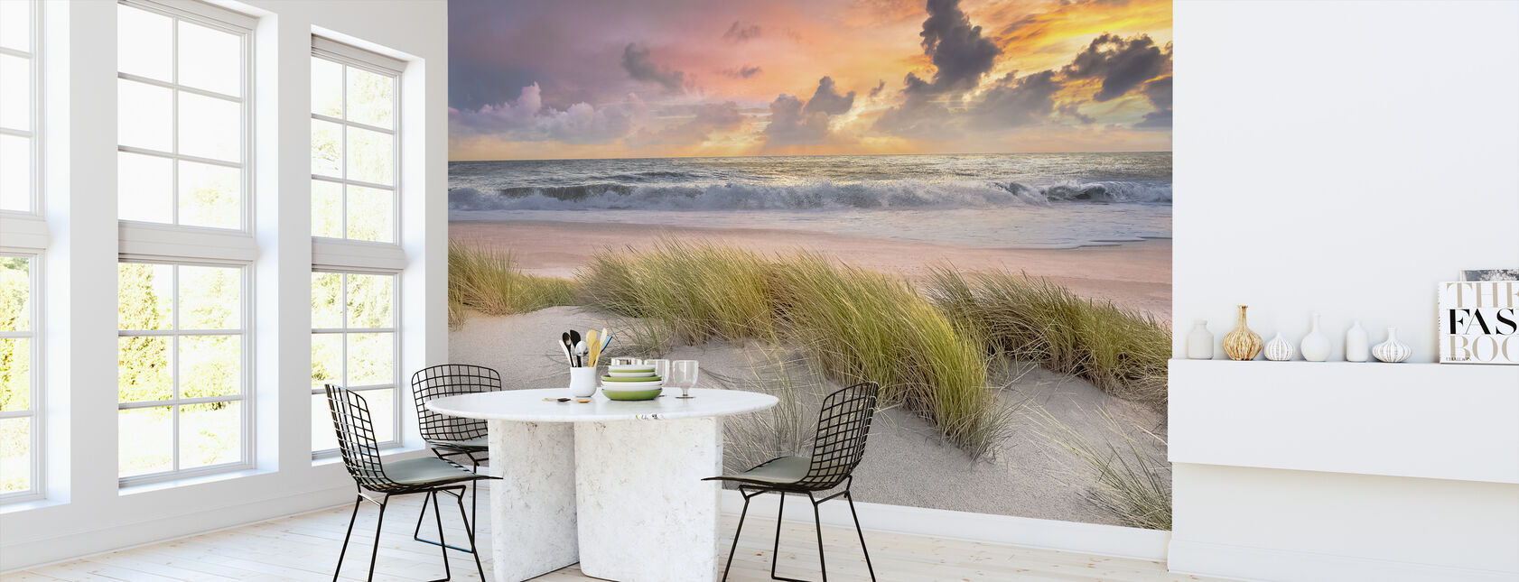Gras in Strand Zand - Behang - Keuken