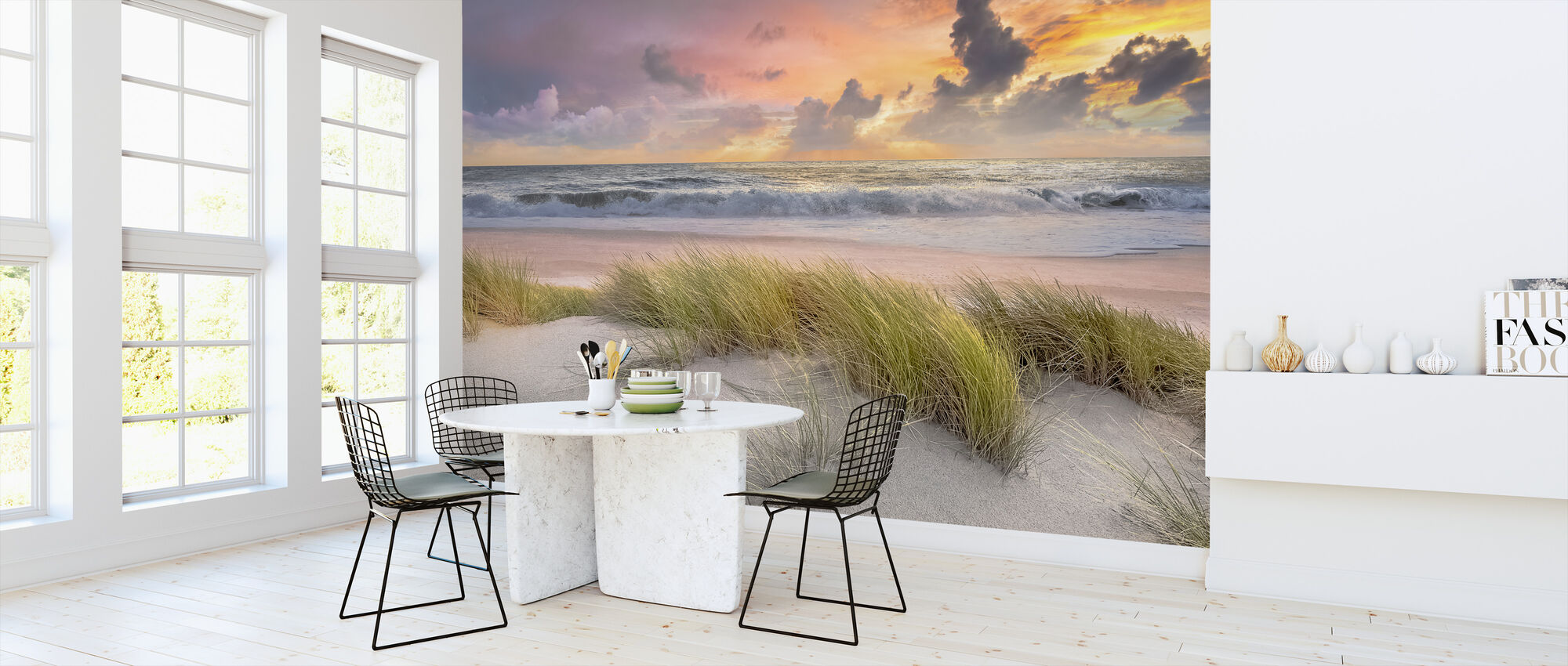 Grass in Beach Sand - Wallpaper - Kitchen