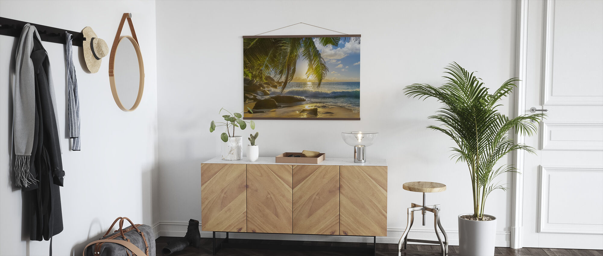 Beach Rocks Waves - Poster - Hallway