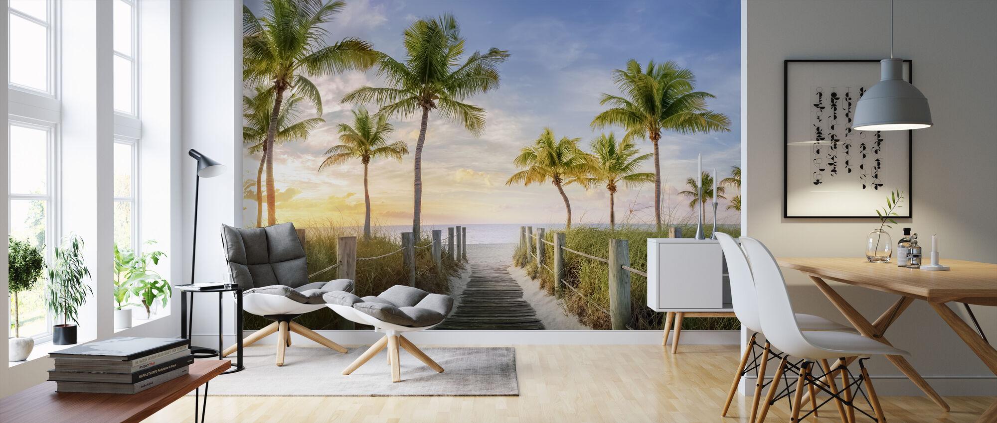 Footbridge to the Beach - Wallpaper - Living Room