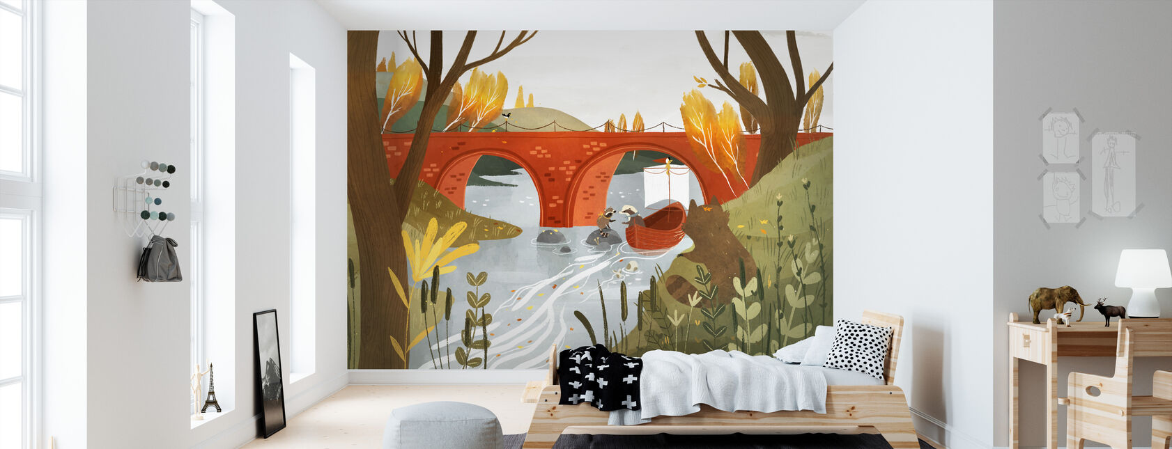 Badgers Journey - Wallpaper - Kids Room