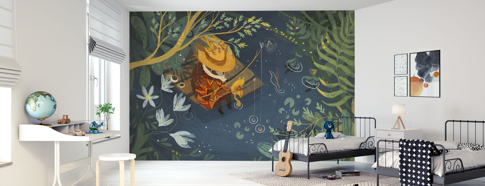 Summer Fishing - Wallpaper - Kids Room
